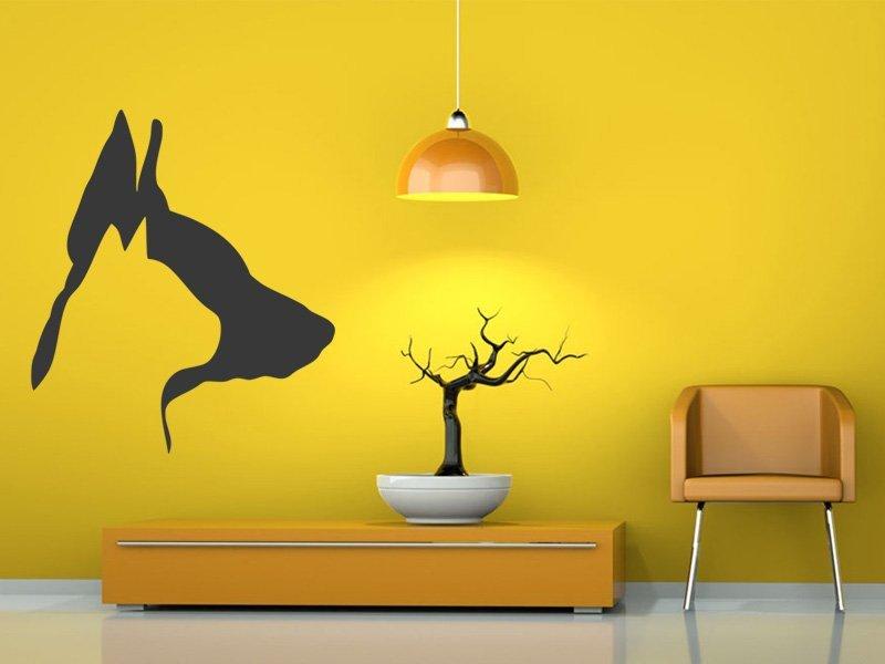 Samolepky na zeď Kočka a pes 003 - Samolepící dekorace a nálepka na stěnu