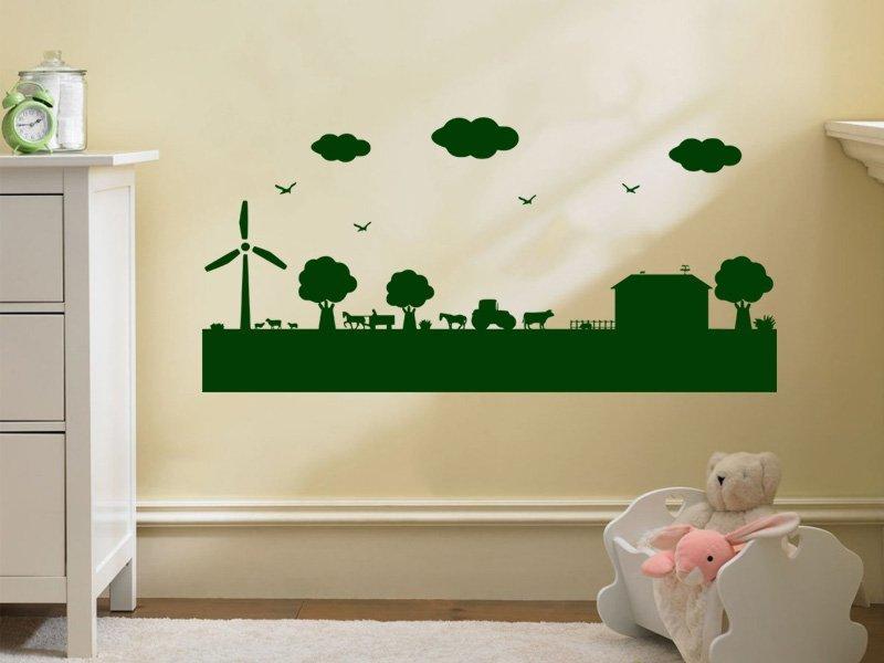 Samolepky na zeď Farma 003 - Samolepící dekorace a nálepka na stěnu