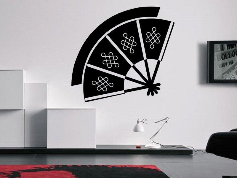Samolepky na zeď Vějíř 0182 - Samolepící dekorace a nálepka na stěnu