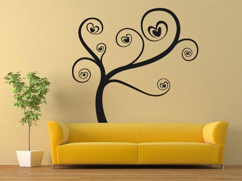 Samolepky na zeď Zamilovaný strom 0226 - Samolepící dekorace a nálepka na stěnu