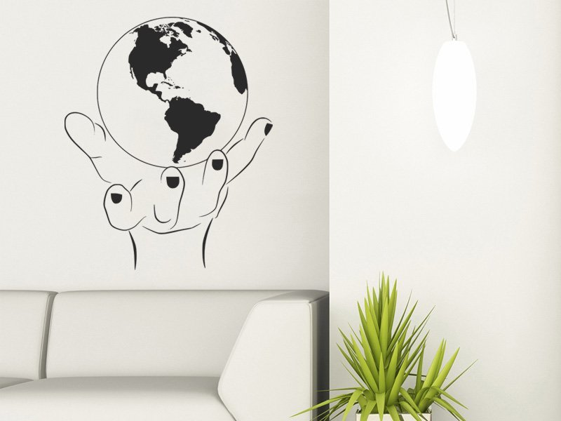 Samolepky na zeď Zeměkoule 001 - Samolepící dekorace a nálepka na stěnu