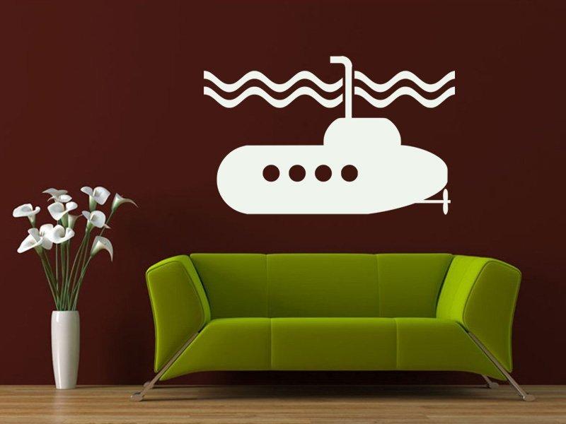 Samolepky na zeď Ponorka 001 - Samolepící dekorace a nálepka na stěnu