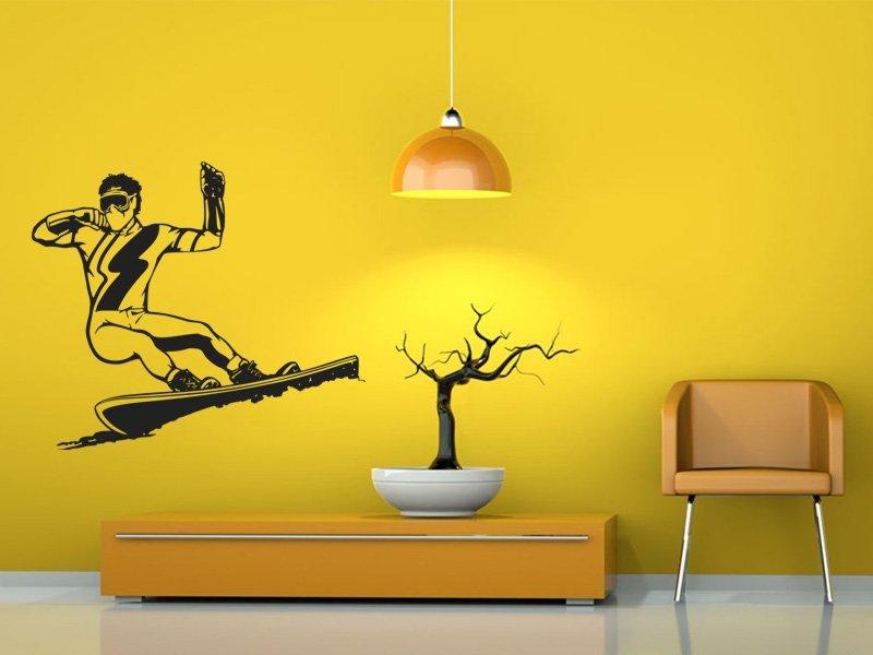 Samolepky na zeď Snowboardista 003 - Samolepící dekorace a nálepka na stěnu