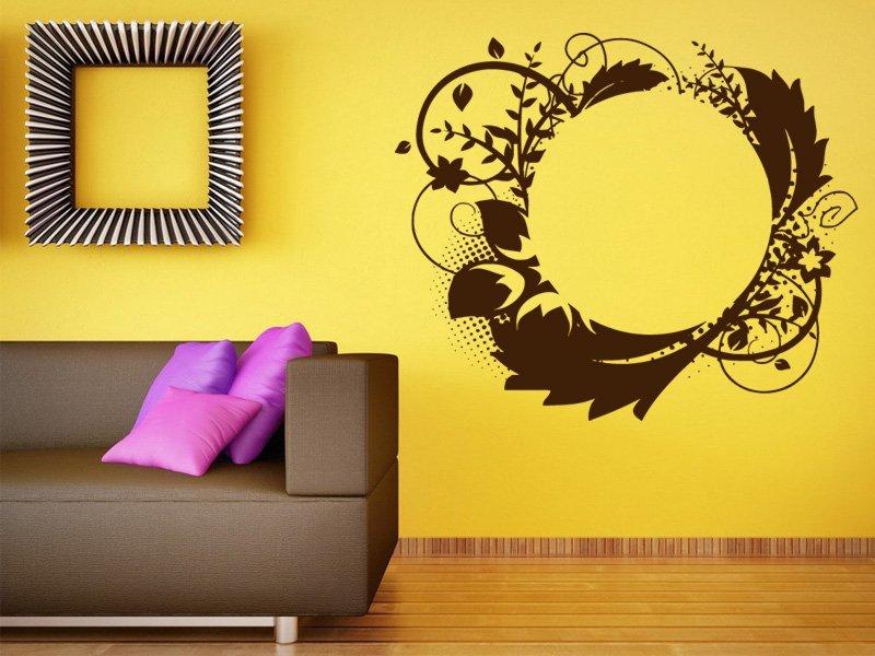 Samolepky na zeď Ornamenty z rostlin 029 - Samolepící dekorace a nálepka na stěnu