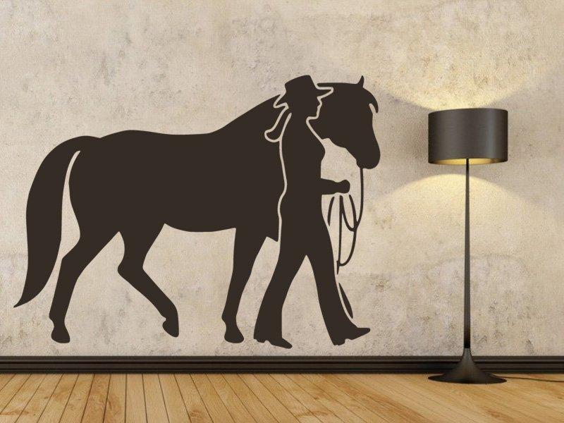 Samolepky na zeď Kůň 0355 - Samolepící dekorace a nálepka na stěnu