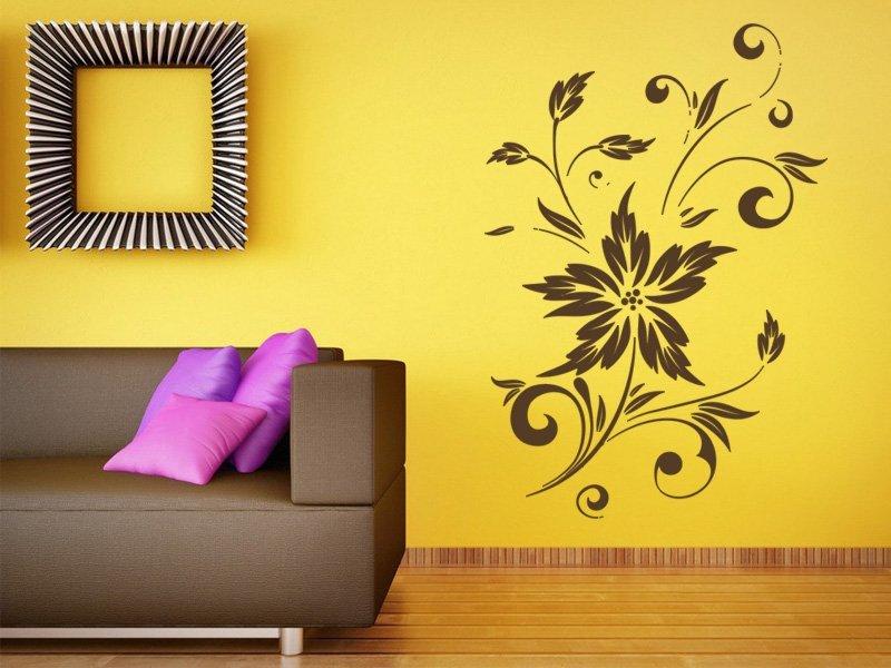 Samolepky na zeď Kytka 008 - Samolepící dekorace a nálepka na stěnu