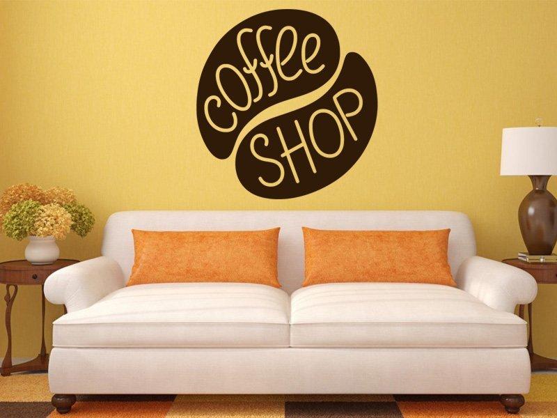 Samolepky na zeď Nápis Coffee shop 0055 - Samolepící dekorace a nálepka na stěnu