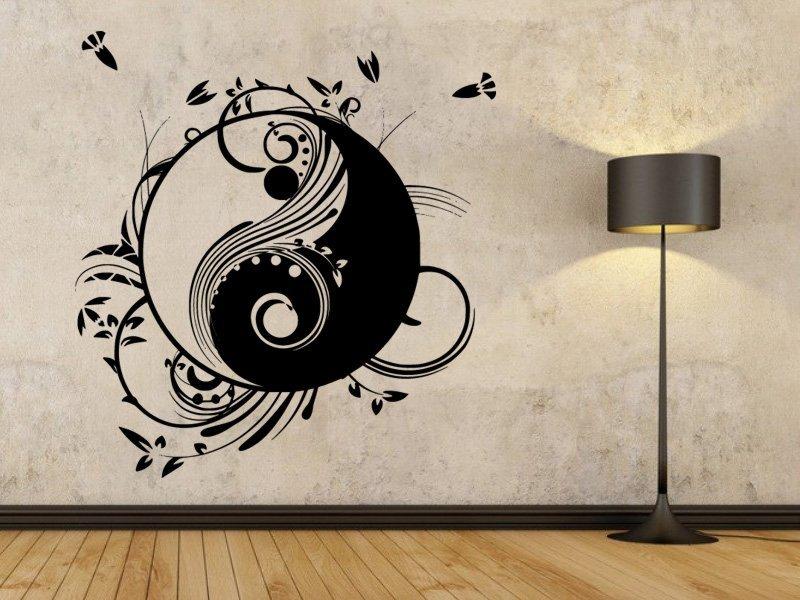 Samolepky na zeď Jing Jang 0194 - Samolepící dekorace a nálepka na stěnu