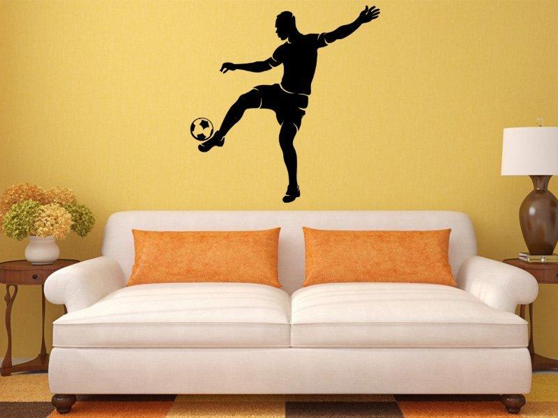 Samolepky na zeď Fotbalista 0576 - Samolepící dekorace a nálepka na stěnu