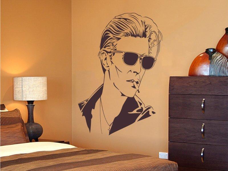 Samolepky na zeď David Bowie 001 - Samolepící dekorace a nálepka na stěnu