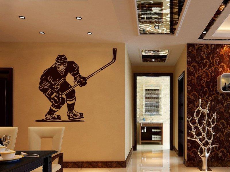 Samolepky na zeď Hokejista 001 - Samolepící dekorace a nálepka na stěnu