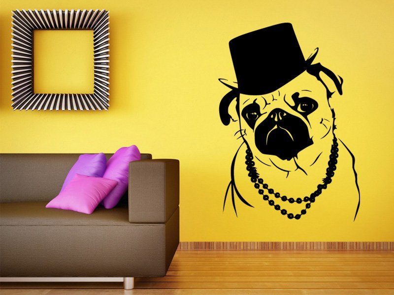 Samolepky na zeď Buldoček 001 - Samolepící dekorace a nálepka na stěnu