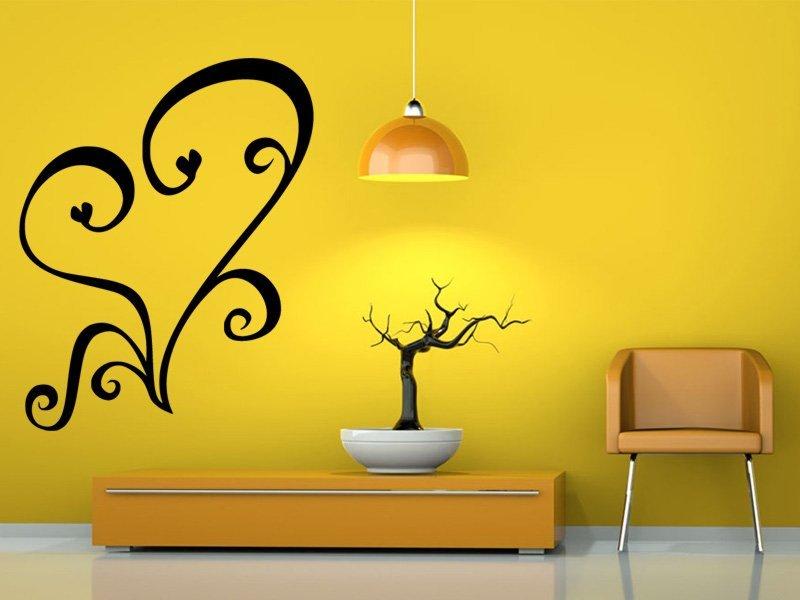 Samolepky na zeď Srdce 0255 - Samolepící dekorace a nálepka na stěnu