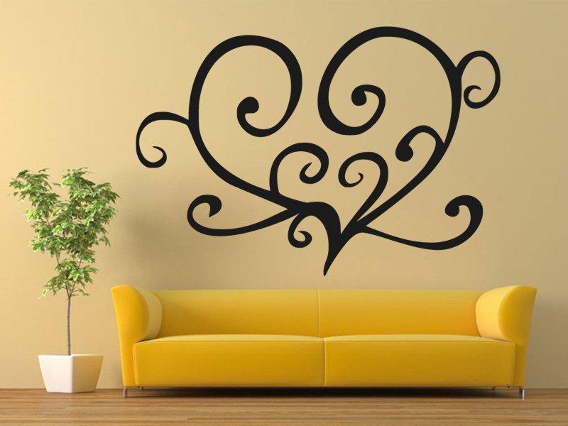 Samolepky na zeď Srdce 0257 - Samolepící dekorace a nálepka na stěnu
