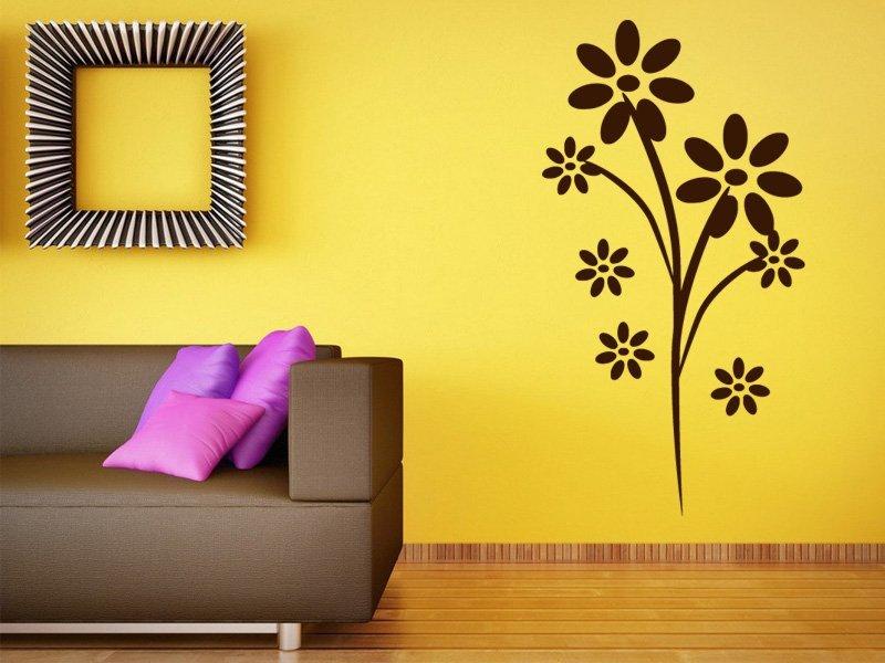 Samolepky na zeď Květiny 0180 - Samolepící dekorace a nálepka na stěnu