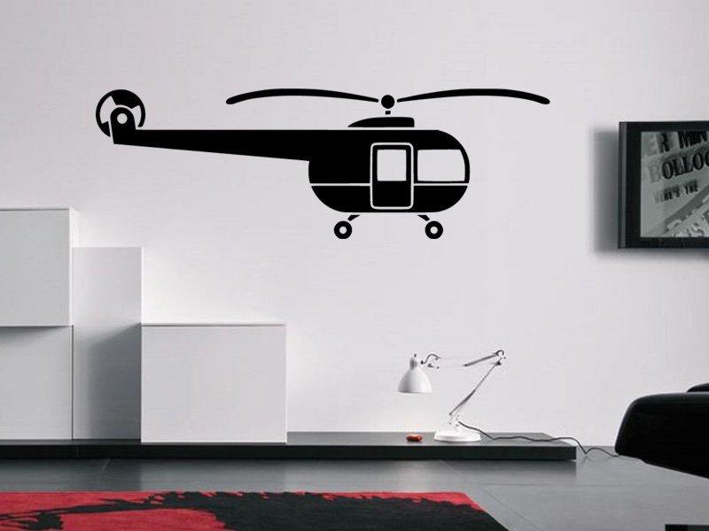 Samolepky na zeď Helikoptéra 0818 - Samolepící dekorace a nálepka na stěnu