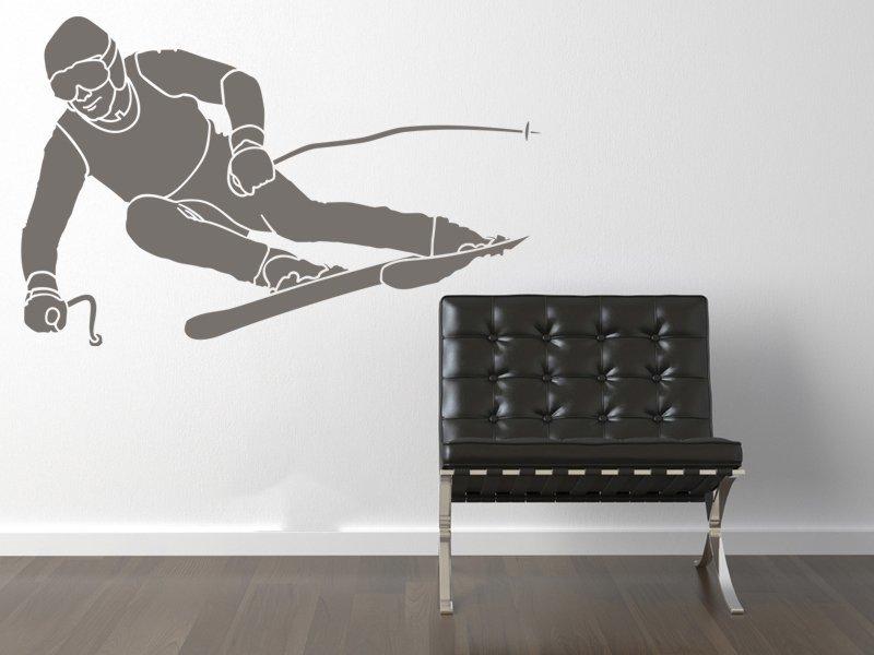Samolepky na zeď Lyžař 001 - Samolepící dekorace a nálepka na stěnu