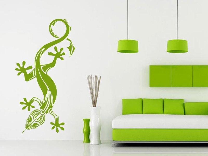 Samolepky na zeď Ještěrka 007 - Samolepící dekorace a nálepka na stěnu