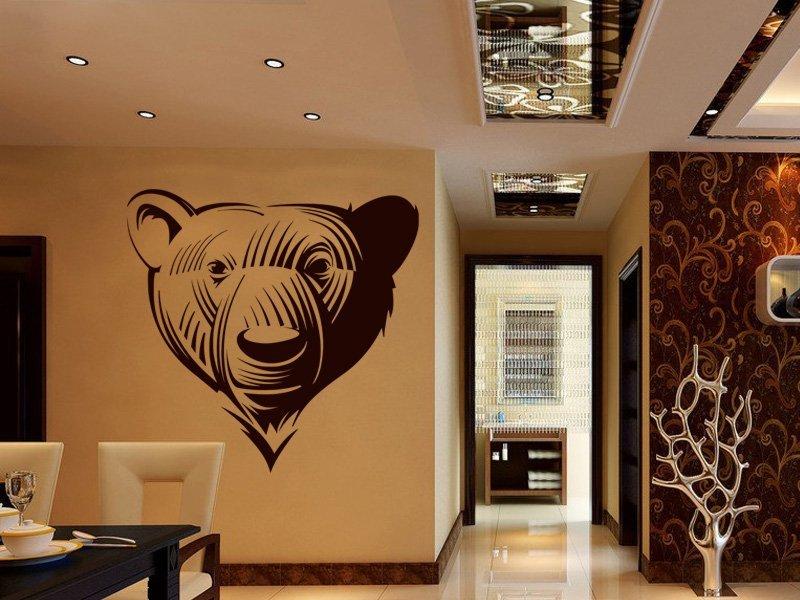 Samolepky na zeď Medvěd 001 - Samolepící dekorace a nálepka na stěnu