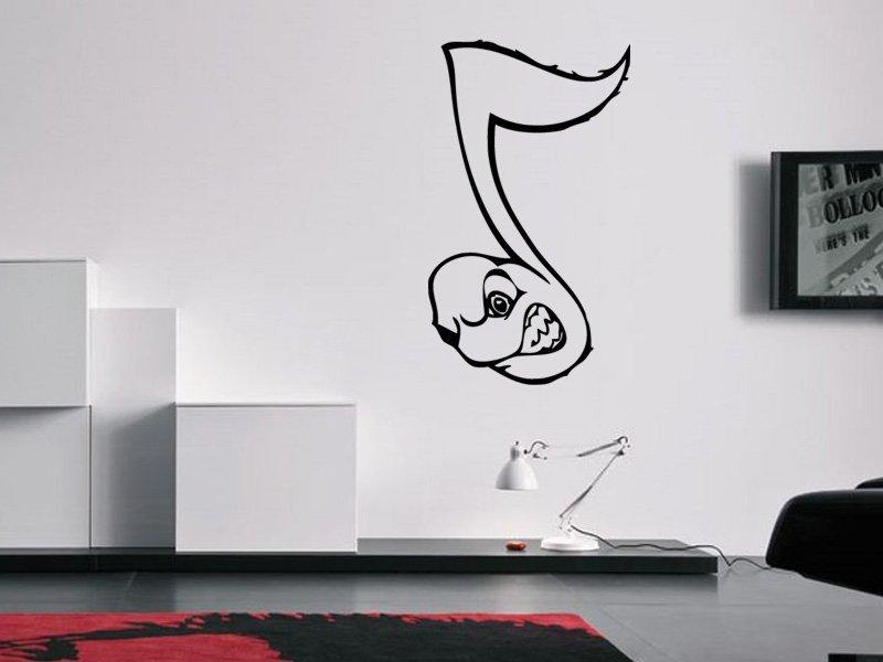 Samolepky na zeď Noty 004 - Samolepící dekorace a nálepka na stěnu