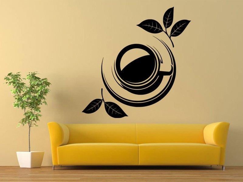 Samolepky na zeď Hrnek čaje 0073 - Samolepící dekorace a nálepka na stěnu