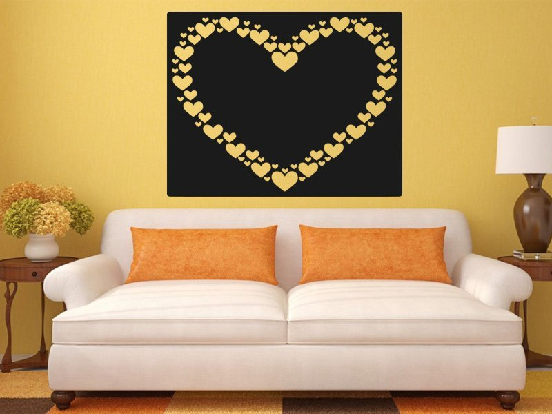 Samolepky na zeď Srdce 0247 - Samolepící dekorace a nálepka na stěnu