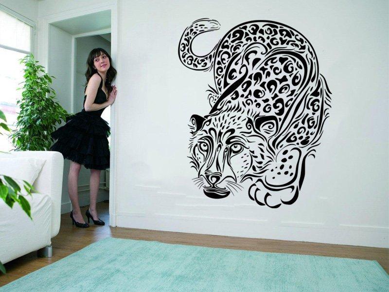 Samolepka na zeď Leopard 001
