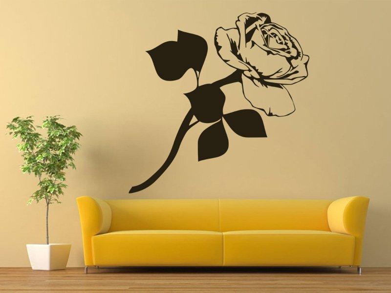 Samolepky na zeď Růže 009 - Samolepící dekorace a nálepka na stěnu