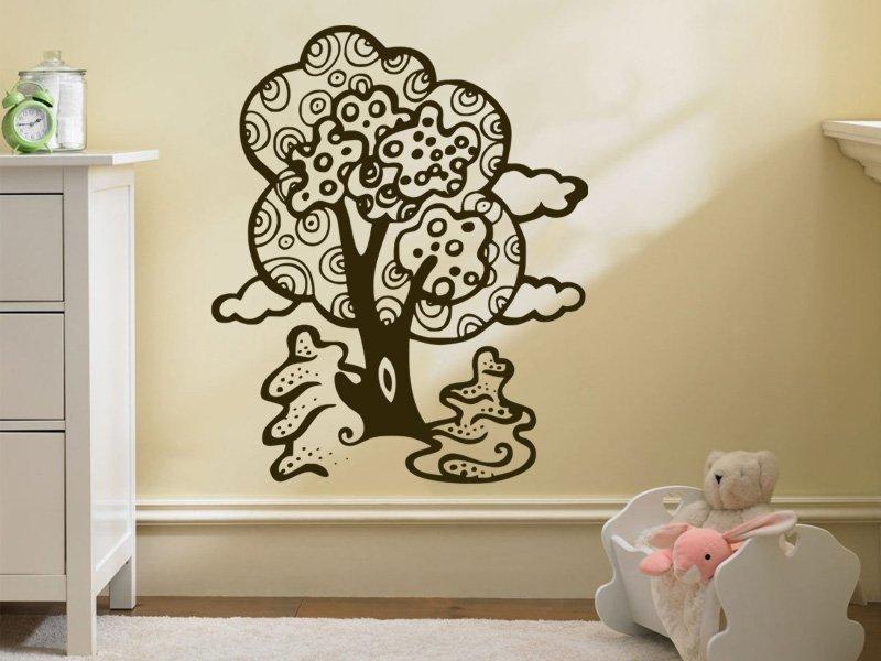 Samolepky na zeď Strom 055 - Samolepící dekorace a nálepka na stěnu