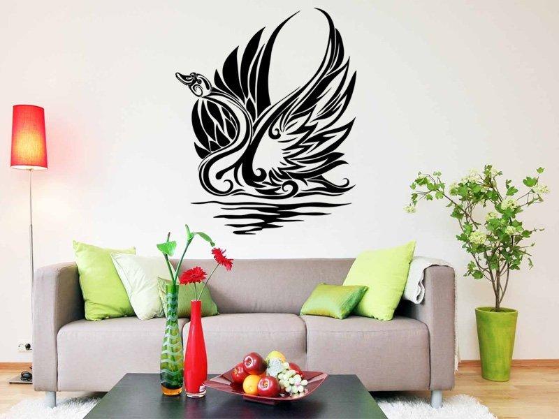 Samolepky na zeď Labuť 001 - Samolepící dekorace a nálepka na stěnu