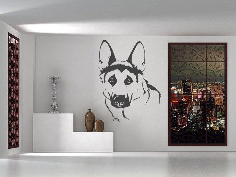 Samolepky na zeď Vlčák 001 - Samolepící dekorace a nálepka na stěnu