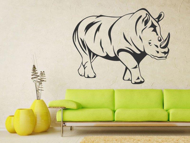 Samolepky na zeď Nosorožec 001 - Samolepící dekorace a nálepka na stěnu