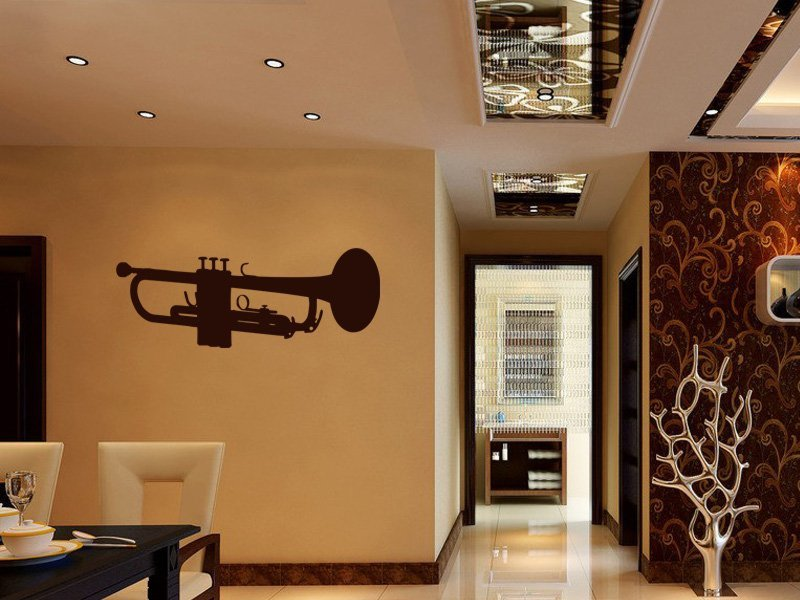 Samolepky na zeď Trumpeta 001 - Samolepící dekorace a nálepka na stěnu