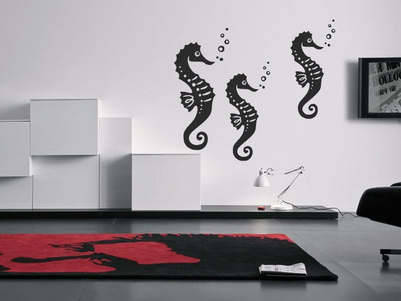 Samolepky na zeď Mořský koník 001 - Samolepící dekorace a nálepka na stěnu
