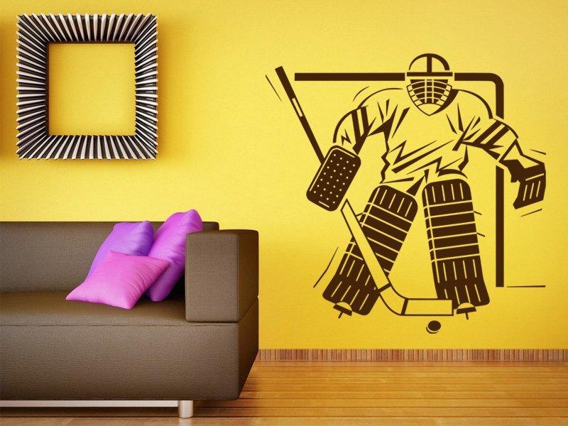 Samolepky na zeď Hokejista 004 - Samolepící dekorace a nálepka na stěnu