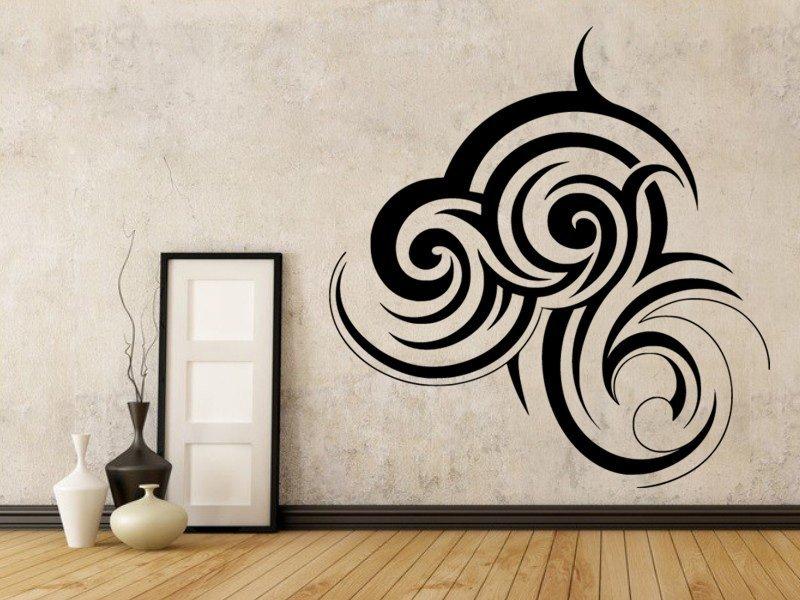 Samolepky na zeď Ornament 0033 - Samolepící dekorace a nálepka na stěnu