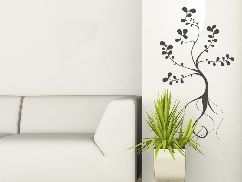 Samolepky na zeď Rostlina 014 - Samolepící dekorace a nálepka na stěnu