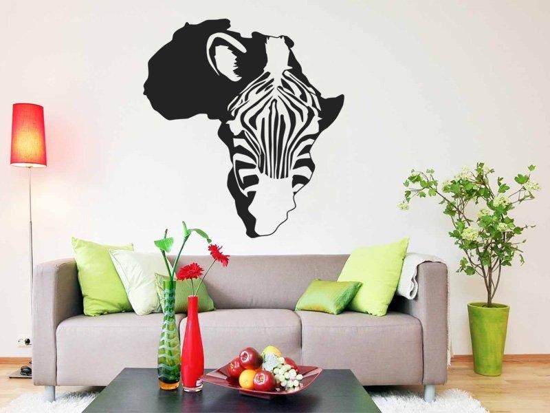 Samolepky na zeď Zebra 008 - Samolepící dekorace a nálepka na stěnu