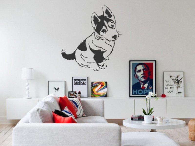 Samolepky na zeď Husky 003 - Samolepící dekorace a nálepka na stěnu