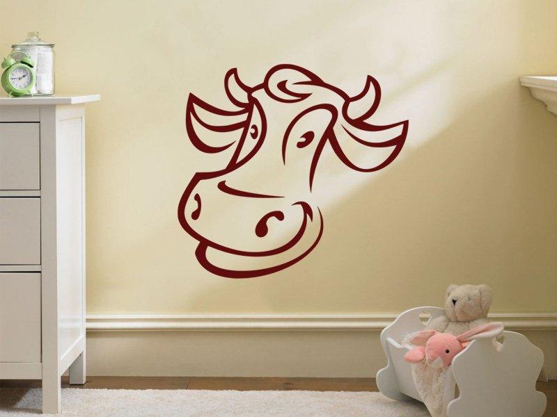 Samolepky na zeď Kráva 006 - Samolepící dekorace a nálepka na stěnu