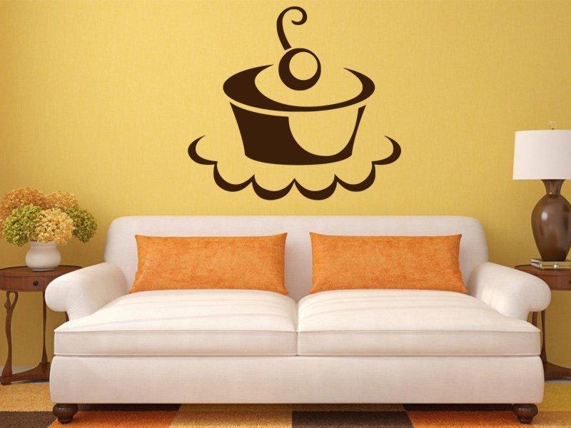 Samolepky na zeď Cupcake 0008 - Samolepící dekorace a nálepka na stěnu