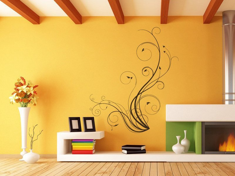 Samolepky na zeď Výhonky 004 - Samolepící dekorace a nálepka na stěnu
