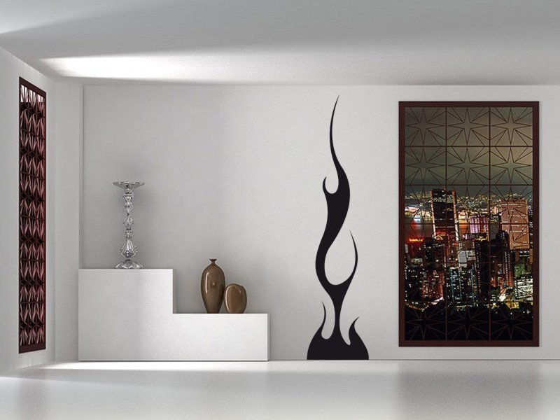 Samolepky na zeď Plameny 005 - Samolepící dekorace a nálepka na stěnu
