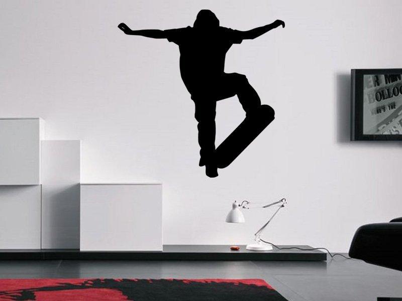 Samolepky na zeď Skateboardista 005 - Samolepící dekorace a nálepka na stěnu