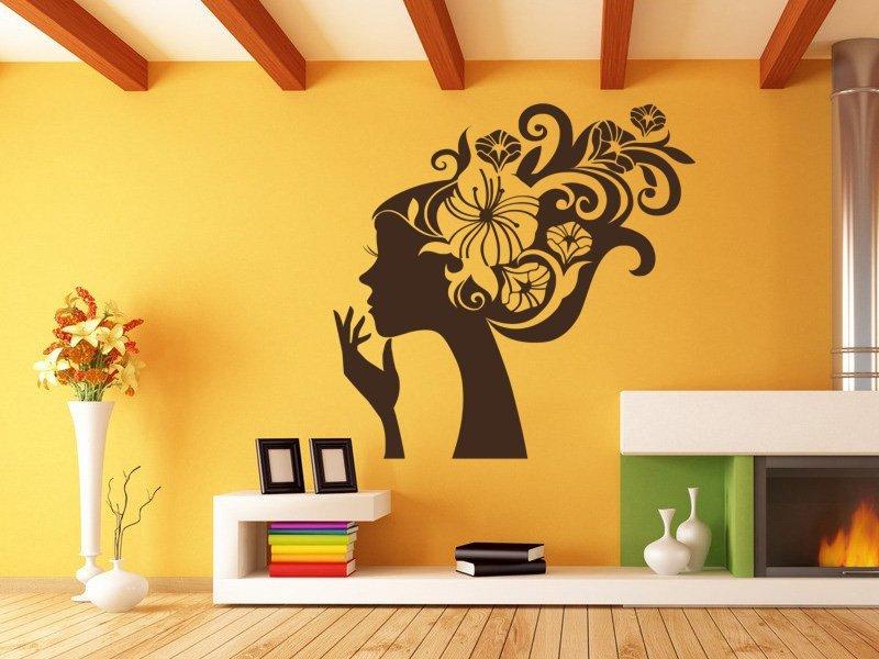 Samolepky na zeď Slečna 003 - Samolepící dekorace a nálepka na stěnu