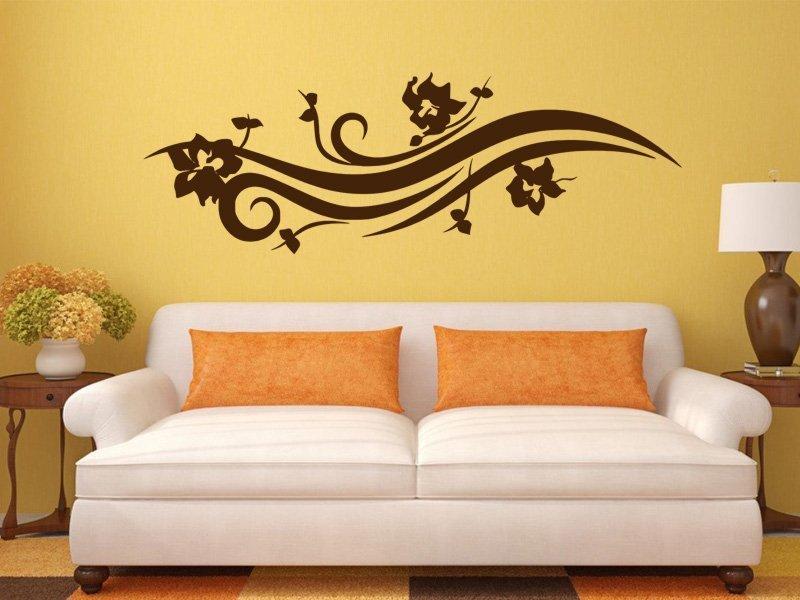 Samolepky na zeď Ornamenty z rostlin 026 - Samolepící dekorace a nálepka na stěnu