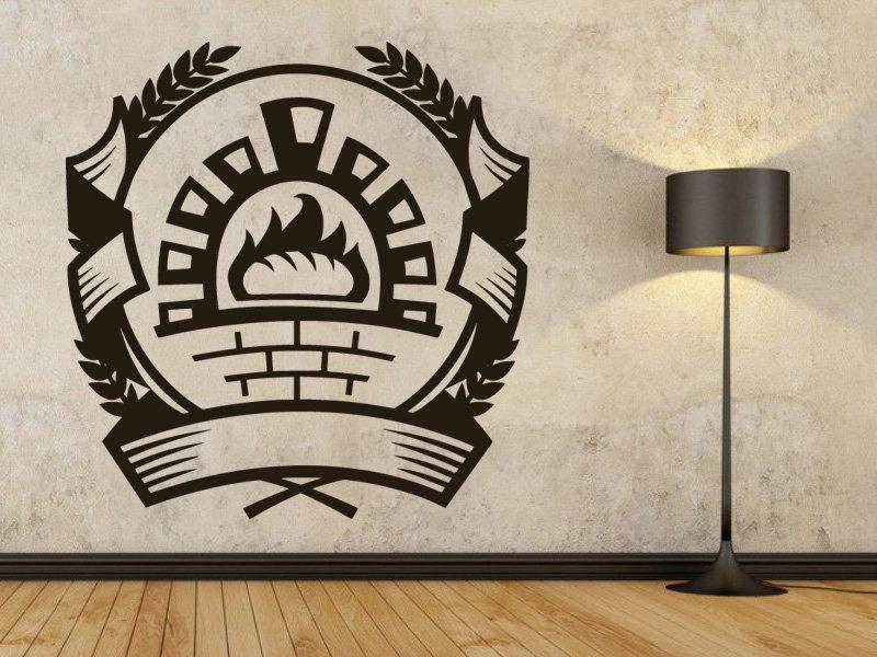 Samolepky na zeď Pizza pec 0131 - Samolepící dekorace a nálepka na stěnu