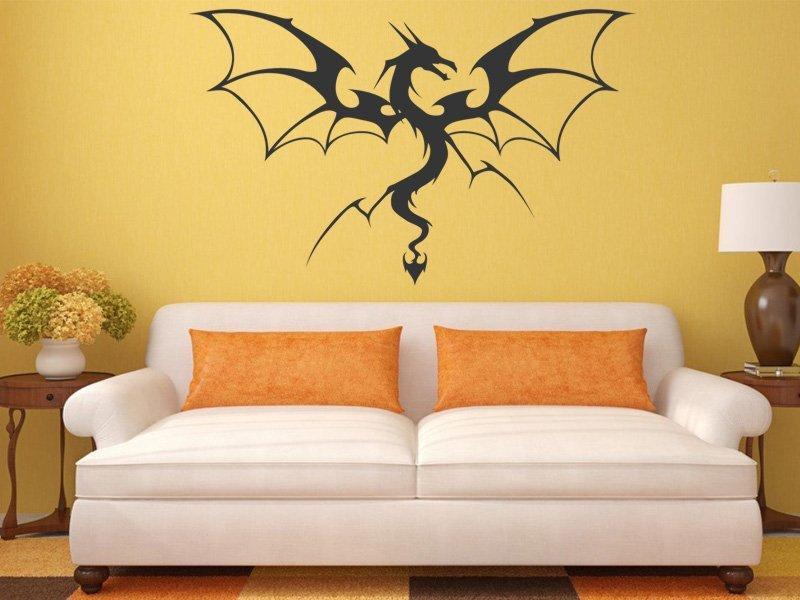 Samolepky na zeď Drak 012 - Samolepící dekorace a nálepka na stěnu