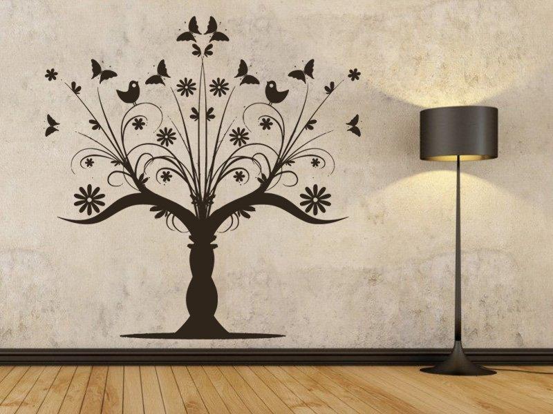 Samolepky na zeď Strom 043 - Samolepící dekorace a nálepka na stěnu