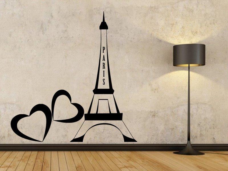 Samolepky na zeď Eiffelova věž 0307 - Samolepící dekorace a nálepka na stěnu
